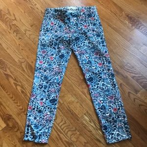 Tory Burch Floral Jeans